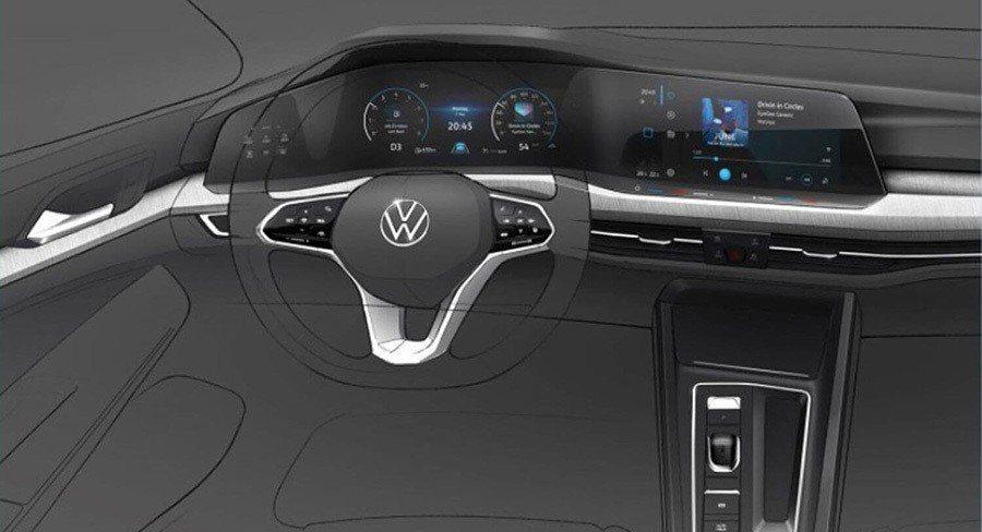 全新第八代volkswagen Golf內裝曝光 實車將於十月發表 車壇新