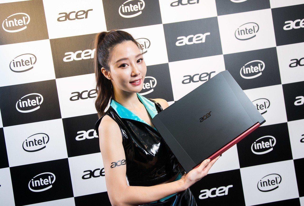 Acer Nitro 5窄邊框電競筆電升級上市,建議售價38,900元起。圖/宏...