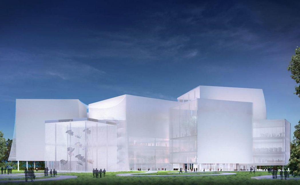 日本知名建築師妹島和世設計的台中綠美圖,工程標案三度流標,市府已重新公告上網。圖...