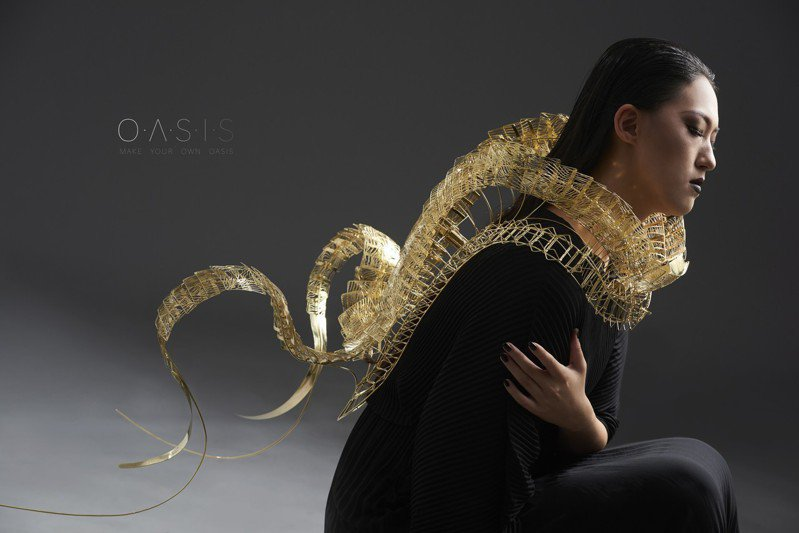 清大藝設系大四生林凱媚作品《綠洲》,榮獲新一代設計展工藝設計組「金點新秀設計獎」。圖/清大提供