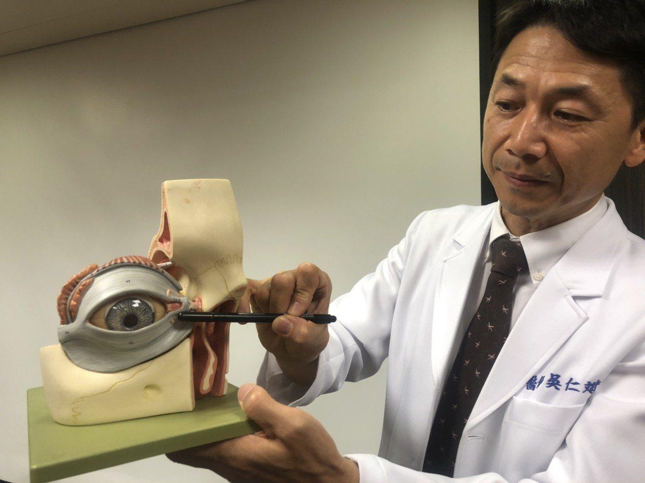 眼科醫師吳仁斌表示,感冒時因鼻腔塞住使得淚液無法通過鼻淚管,而會有眼角泛淚的狀況...