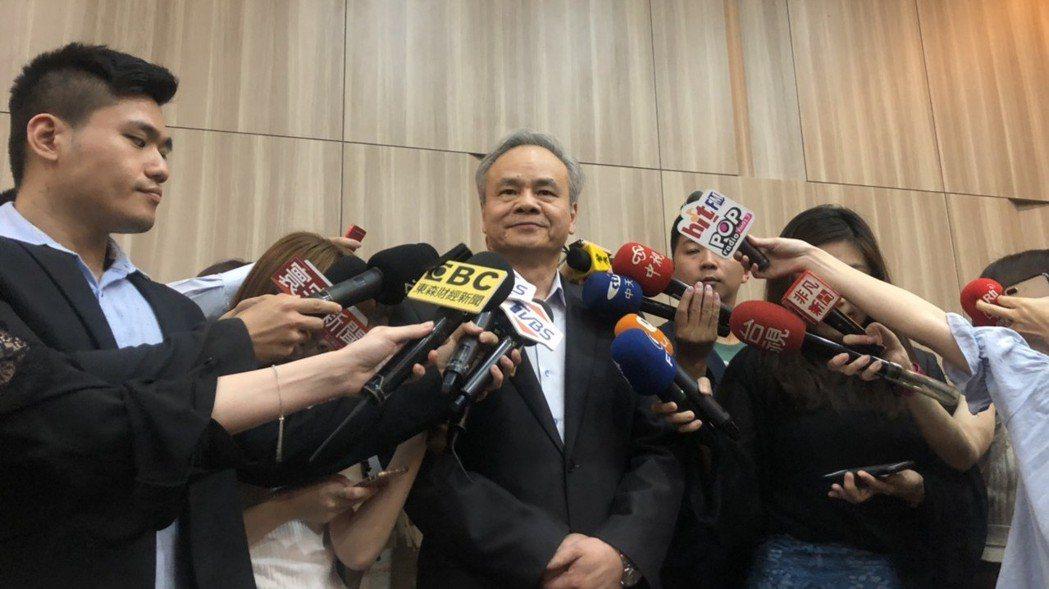 中華郵政總經理陳憲着。 記者侯俐安/攝影
