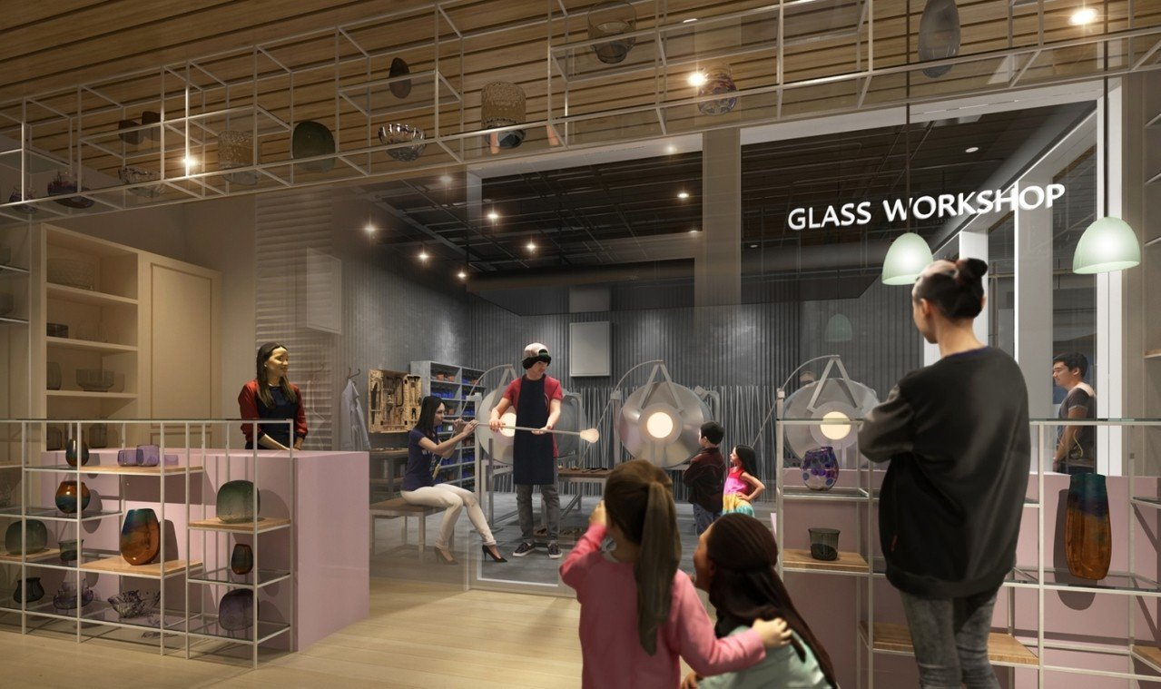 誠品生活日本橋邀請「東京玻璃工藝研究所」進駐,提供玻璃手作體驗。圖/誠品提供
