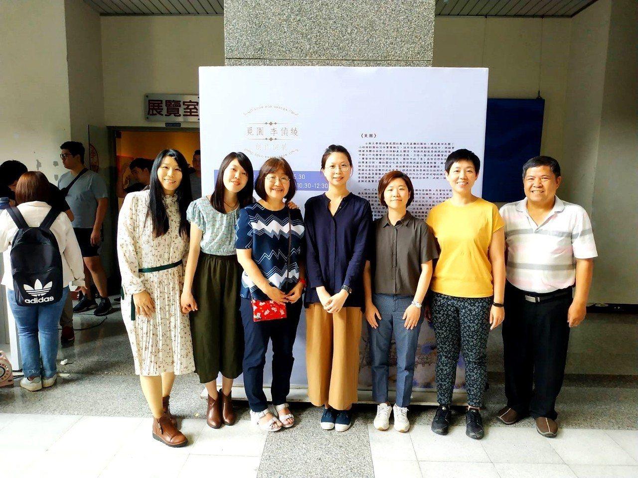 虎尾科技大學藝術中心今天在校方藝術中心展覽室舉辦李偵绫創作個展「覓園」開幕活動。...
