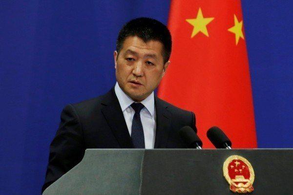 中國外交部發言人陸慷。 路透