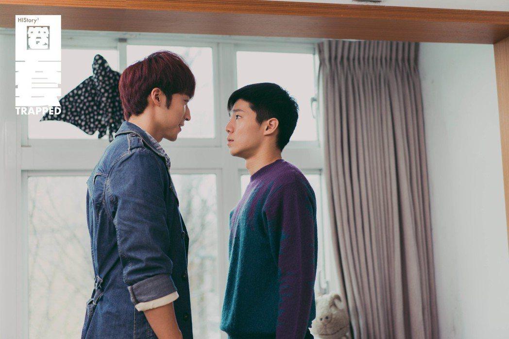 卞慶華(左)與陳廷軒在「圈套」上演逗趣感情戲。圖/CME提供