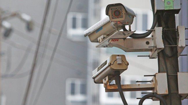 路口監視器。 報系資料照