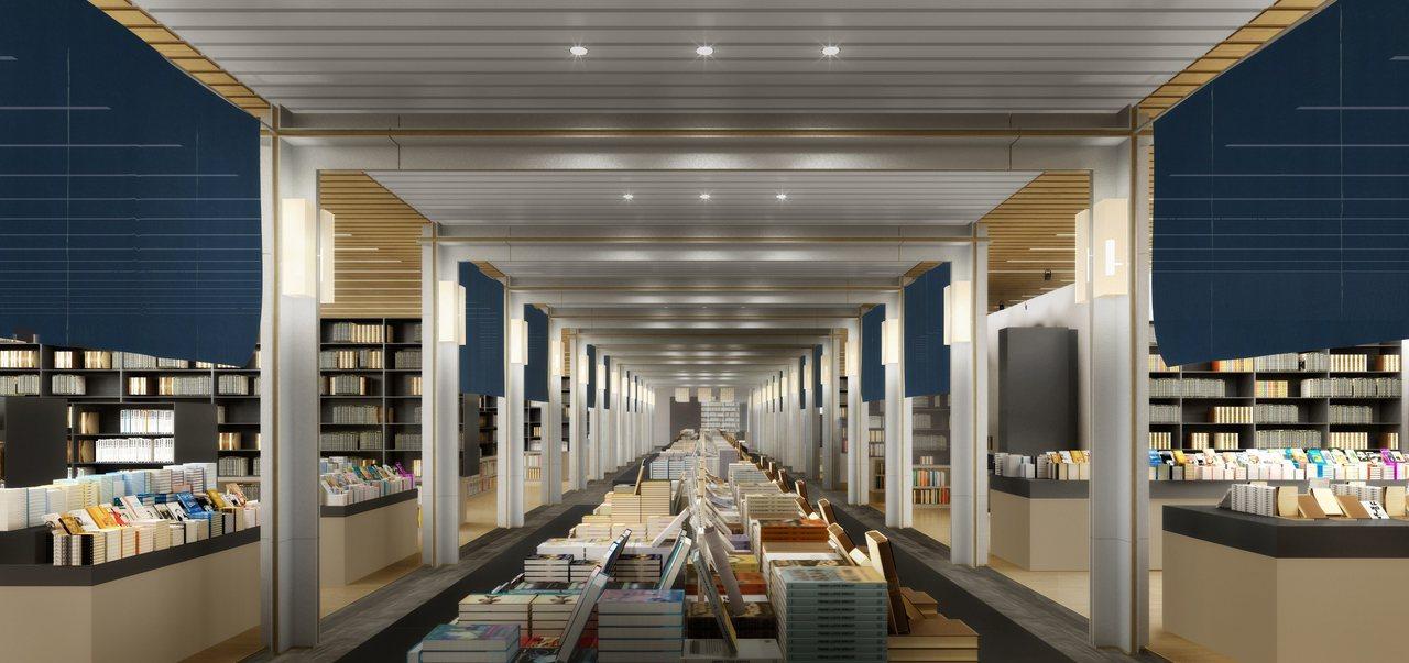 誠品生活日本橋書區以日式經典模矩與序列元素,構成結構層次清晰的迴字廊道,搭配質地...