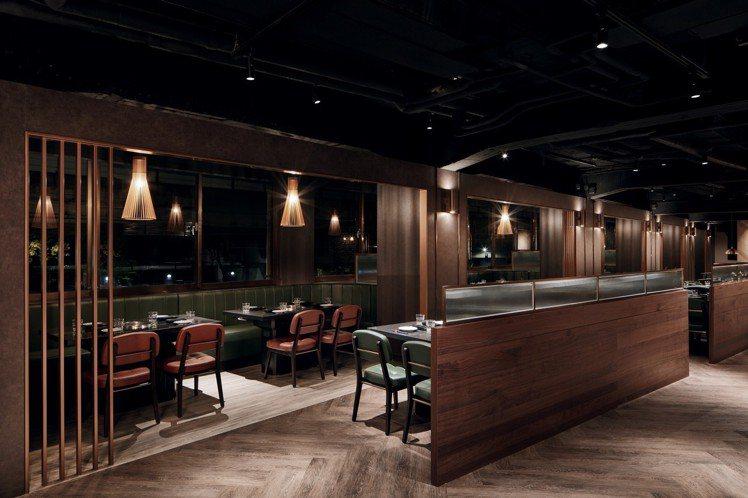 柏克金燒肉屋有別一般日式燒肉店,裝潢採取結合日式、歐式風格。圖/柏克金餐酒集團提...