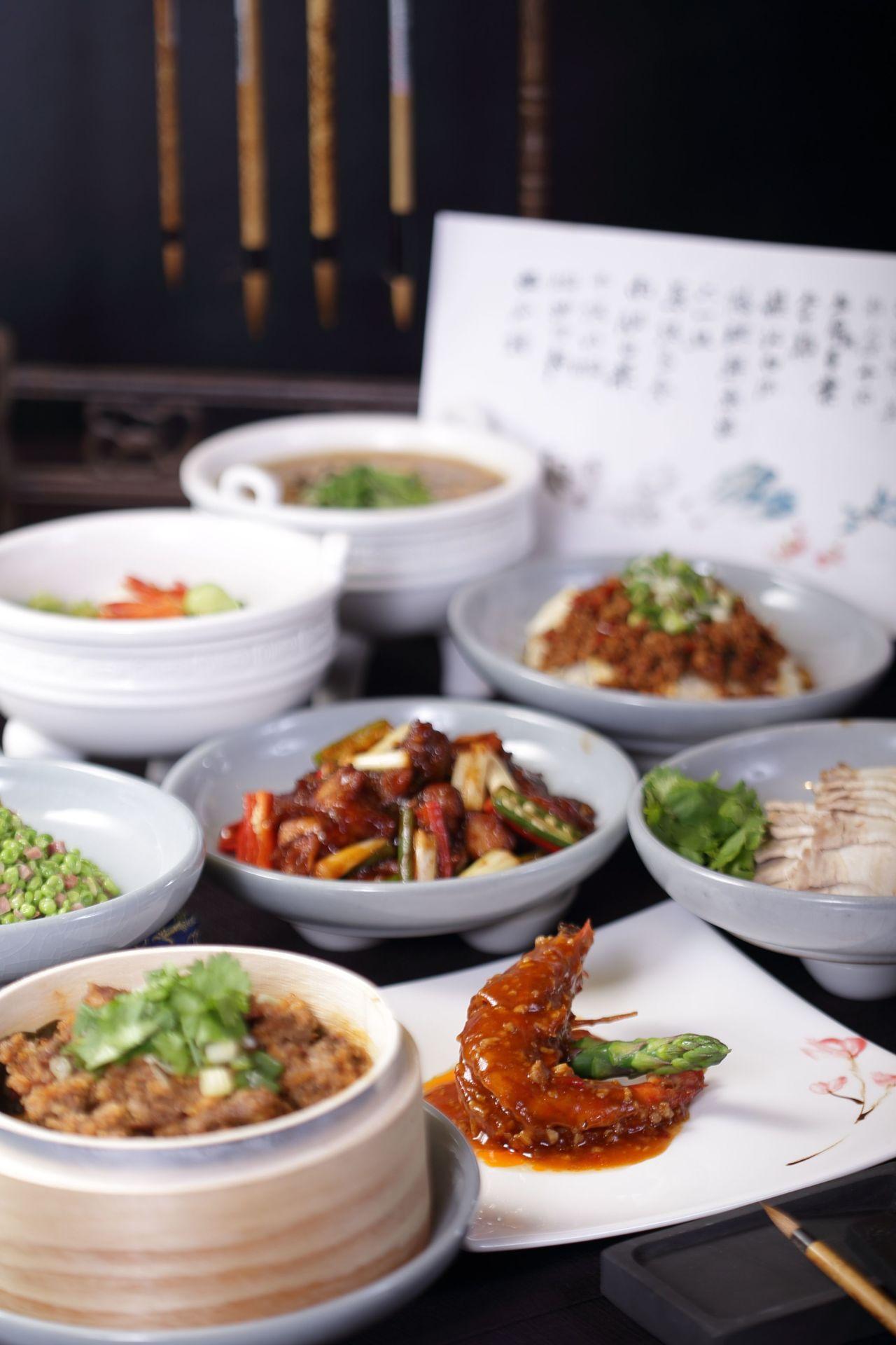 故宮晶華推出大千宴,設計出13道特色料理。圖/晶華酒店提供