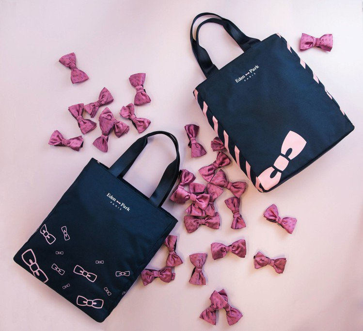 Eden Park攜手7-ELEVEN推出集點限量包款,以品牌Logo「粉紅領結...