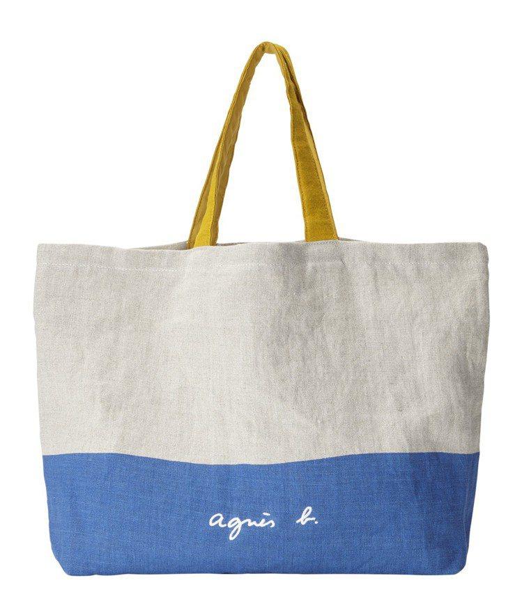 蔚藍海岸托特包,5,280元。圖/agnès b. 提供
