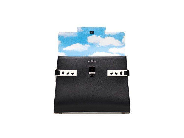 Magritte雲朵內襯Brillant包款中型牛皮肩背包,售價22萬6,900...