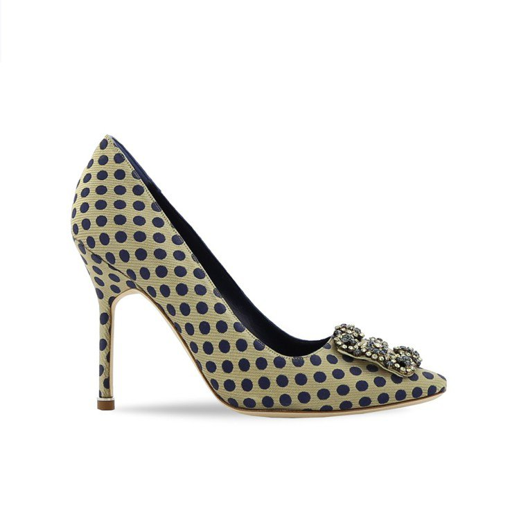 HANGISI波點高跟鞋。圖/Manolo Blahnik提供