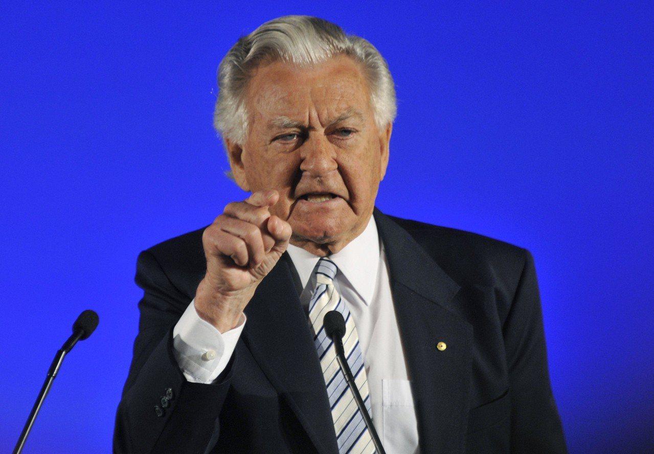 澳洲工黨大老霍克2010年幫工黨輔選。美聯社
