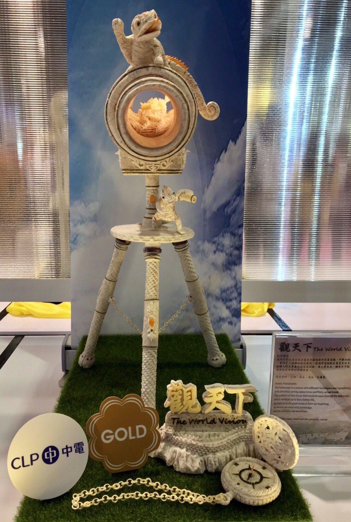 蔡承興獲得金牌作品。圖/台首大提供