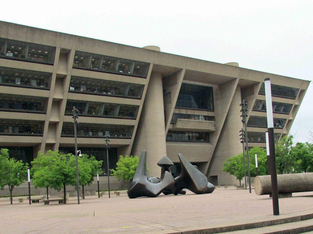 1972年:美國德克薩斯州達拉斯達拉斯市政廳。報系資料照
