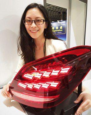 工研院與帝寶合作開發的「OLED 車用先進環保車燈」,省去導光板,組合簡單,暨輕...