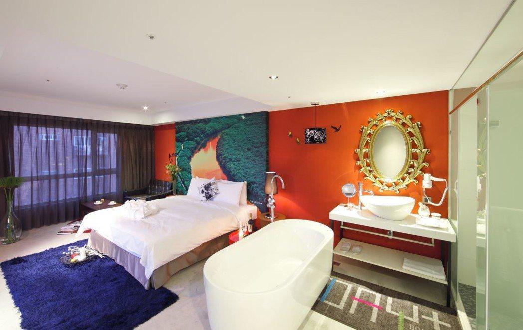 承億文旅淡水吹風以西班牙熱情色彩打造文創設計旅店。  承億文旅 提供