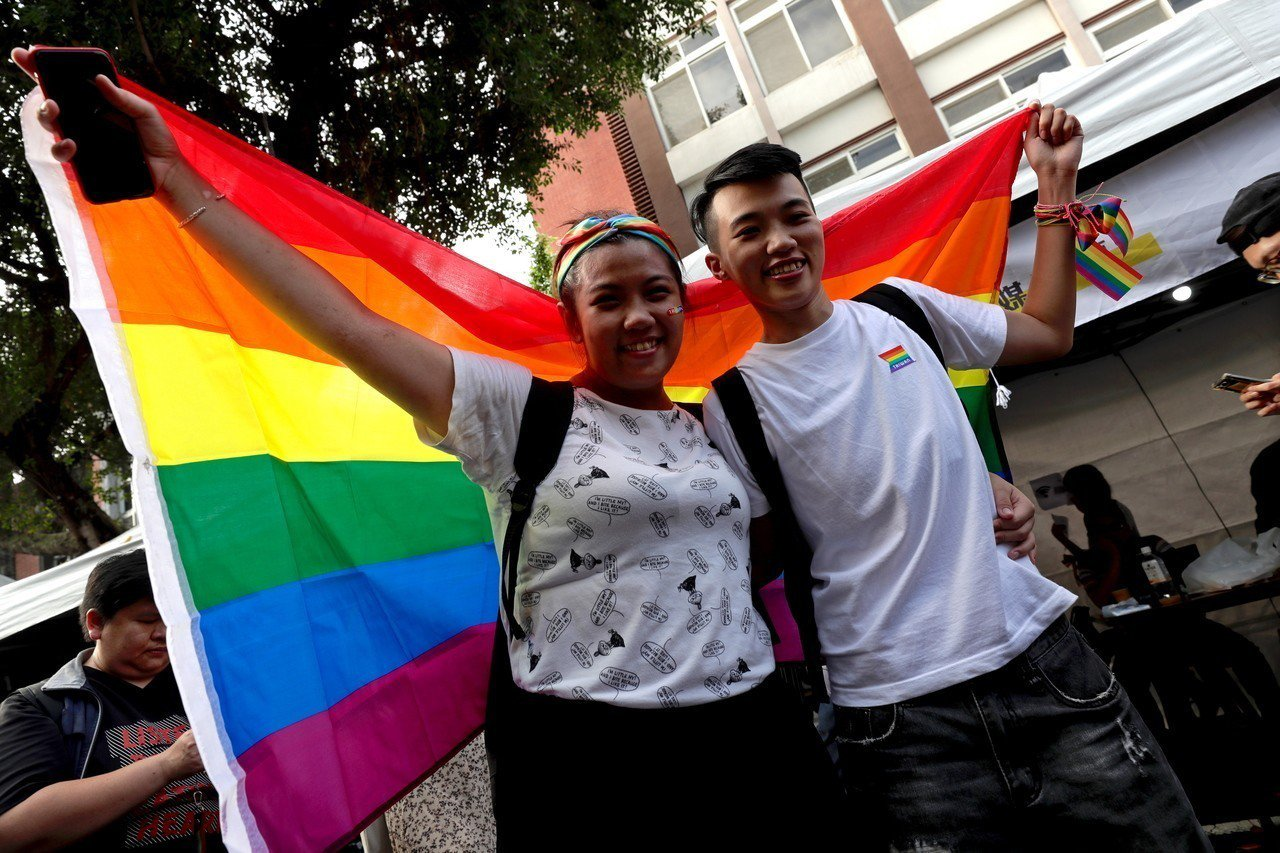 台灣成為亞洲第一個同婚合法化的國家。 歐新社