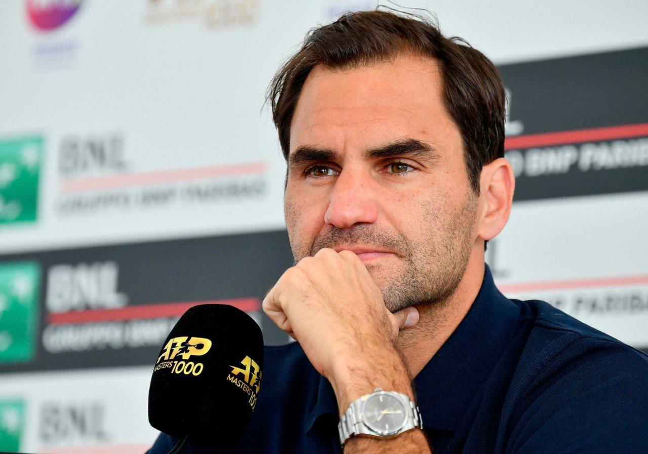 費德勒(Roger Federer)宣布退出羅馬大師賽8強戰。 美聯社