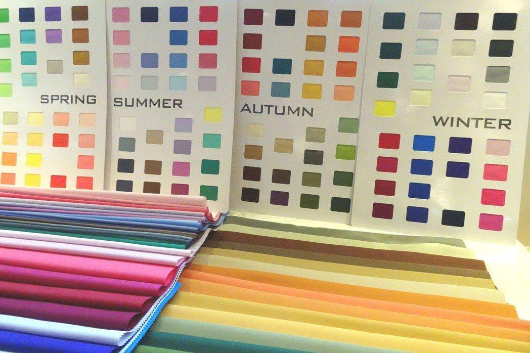 課程教導四季時尚色彩美學之診斷技術。 台灣區棉布印染整理公會/提供
