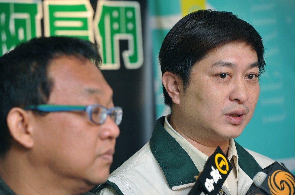 陳嘉爵(右)曾任陳水扁辦公室主任。記者陳正興/攝影