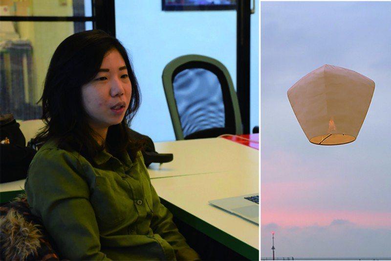 文化銀行共同創辦人邵璦婷,同時也是環保天燈計畫的發起者。攝影/許婷宜