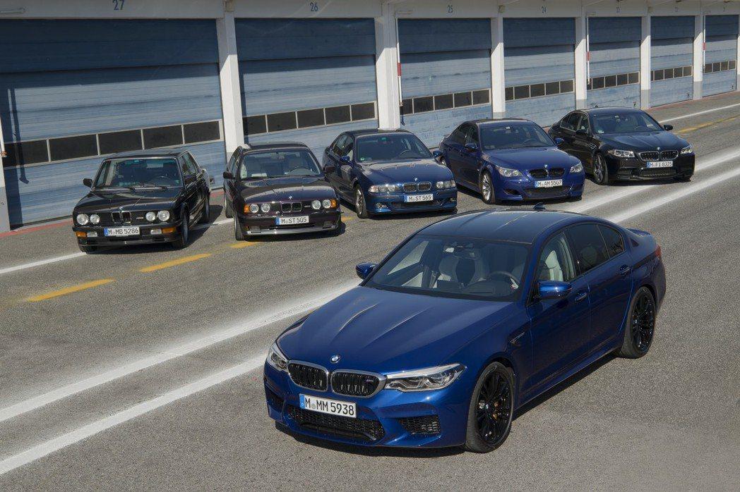 歷經六代車型的BMW M5。 摘自BMW