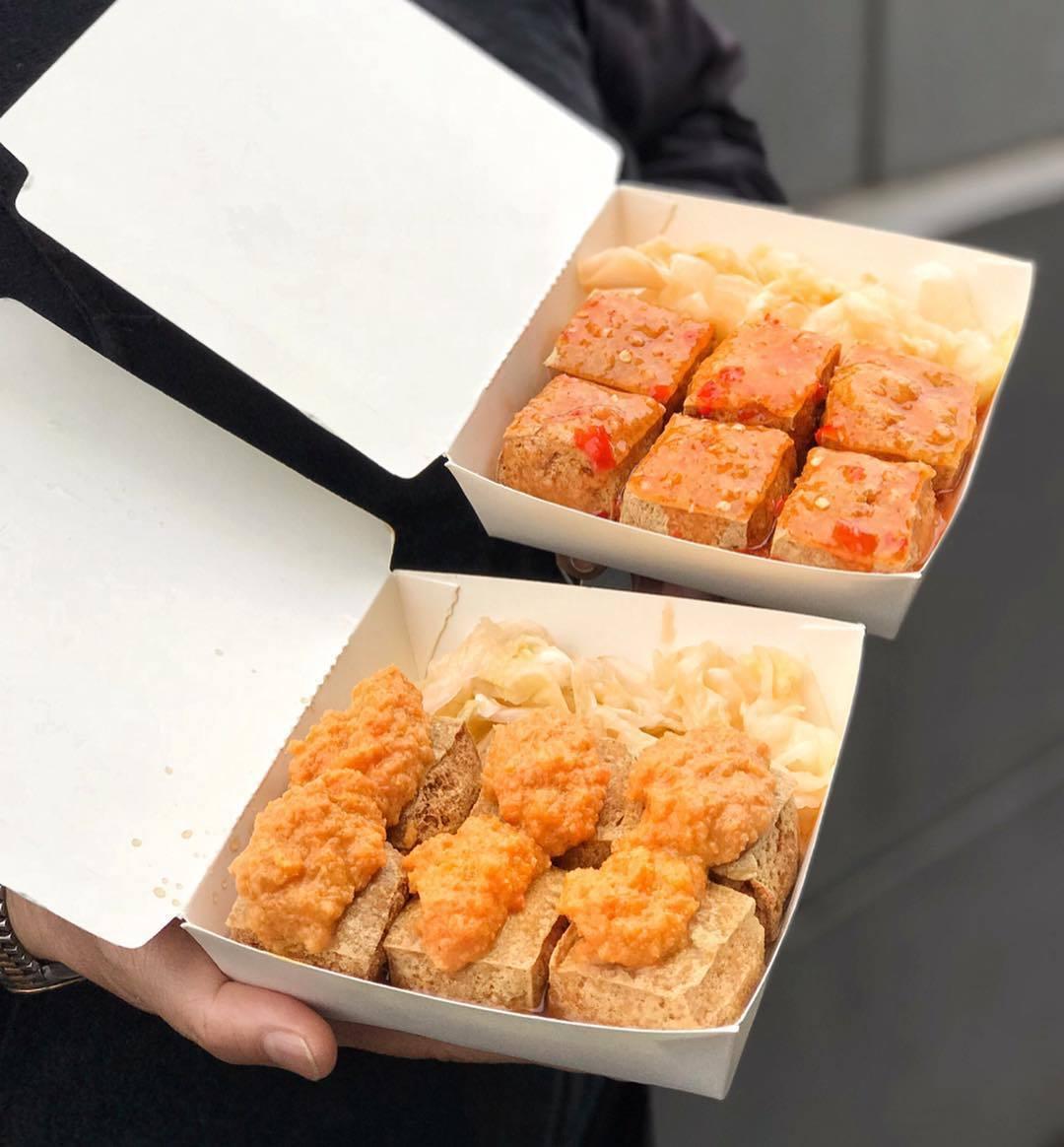 泰式椒麻臭豆腐(上)、港式蟹黃臭豆腐(下)。圖/IG:suilovefood授權