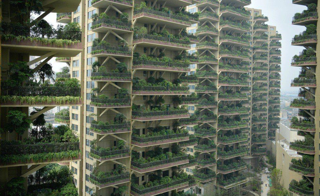成都「垂直森林」住宅小區。 (中新社)