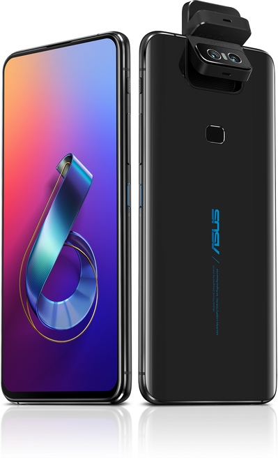 ASUS ZenFone 6為首款全螢幕無瀏海設計ZenFone手機,結合創新翻轉式相機。(圖/華碩提供)