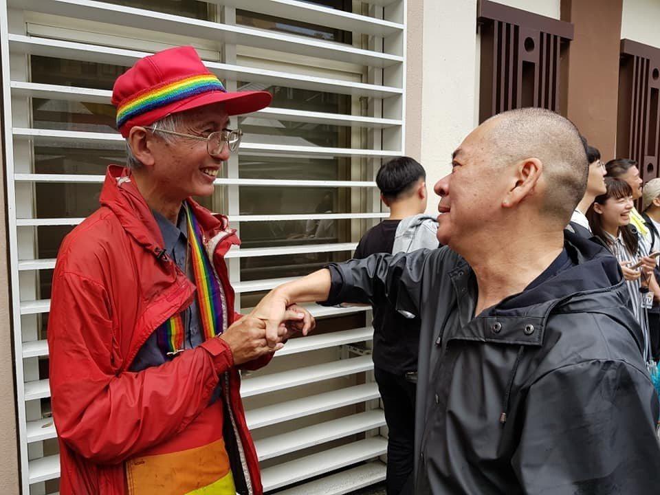 蔡明亮與祁家威。圖/摘自臉書