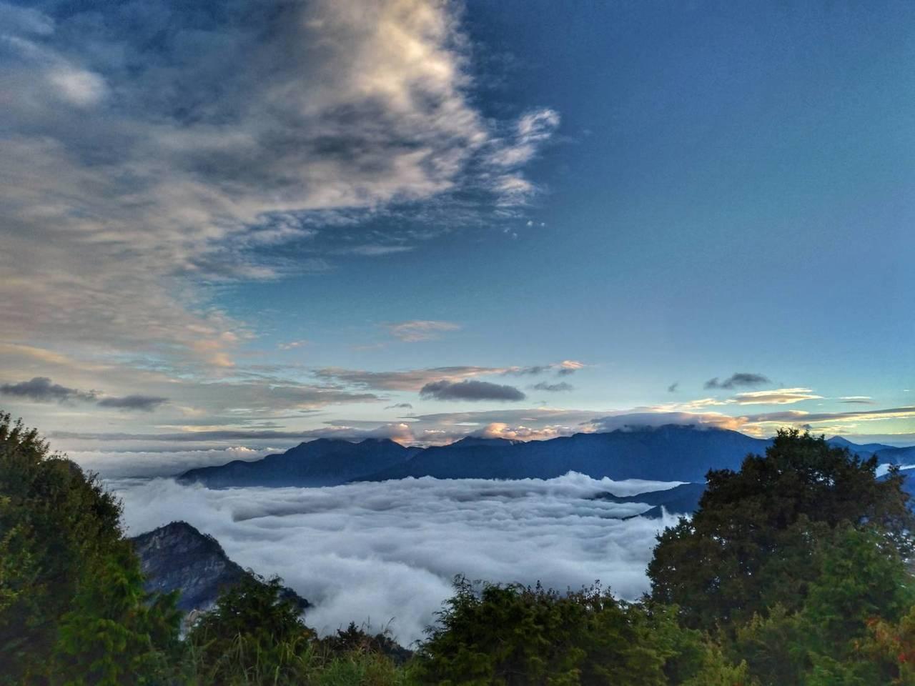 小笠原山雲海。圖/嘉義林管處提供