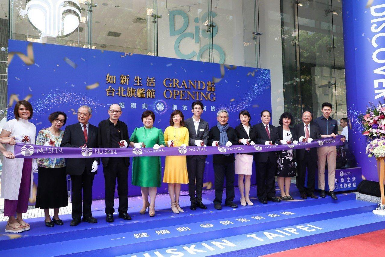 NU SKIN如新生活台北旗艦館開幕,請來修杰楷擔任旗艦大使。記者吳致碩/攝影