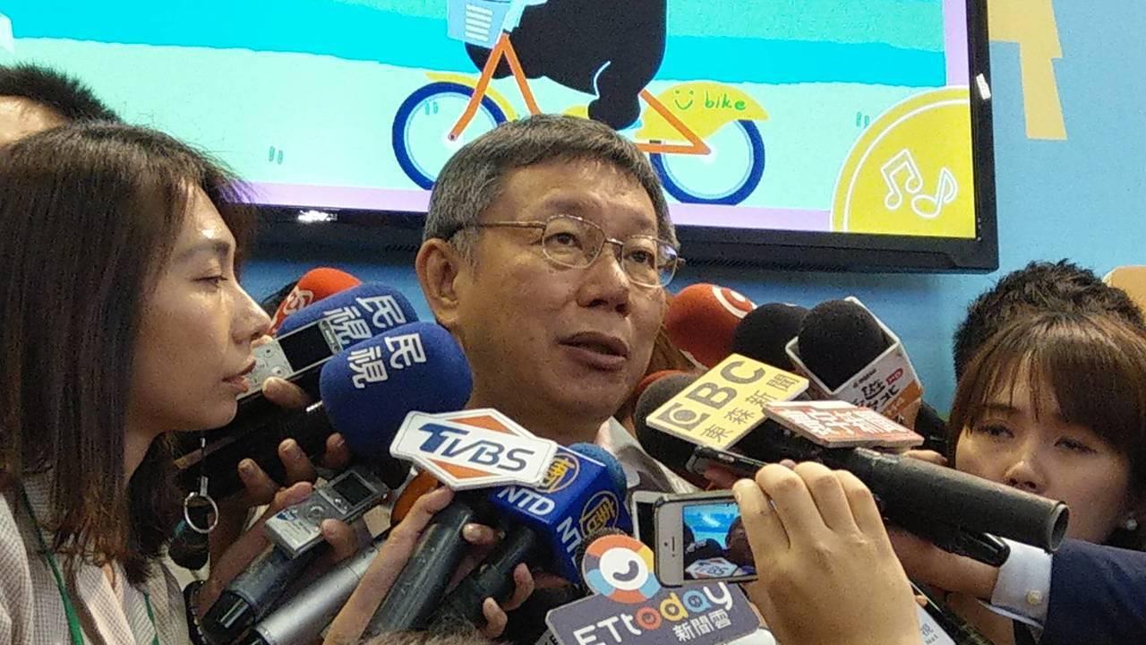 台北市長柯文哲將於5月23日訪日。記者楊正海/攝影