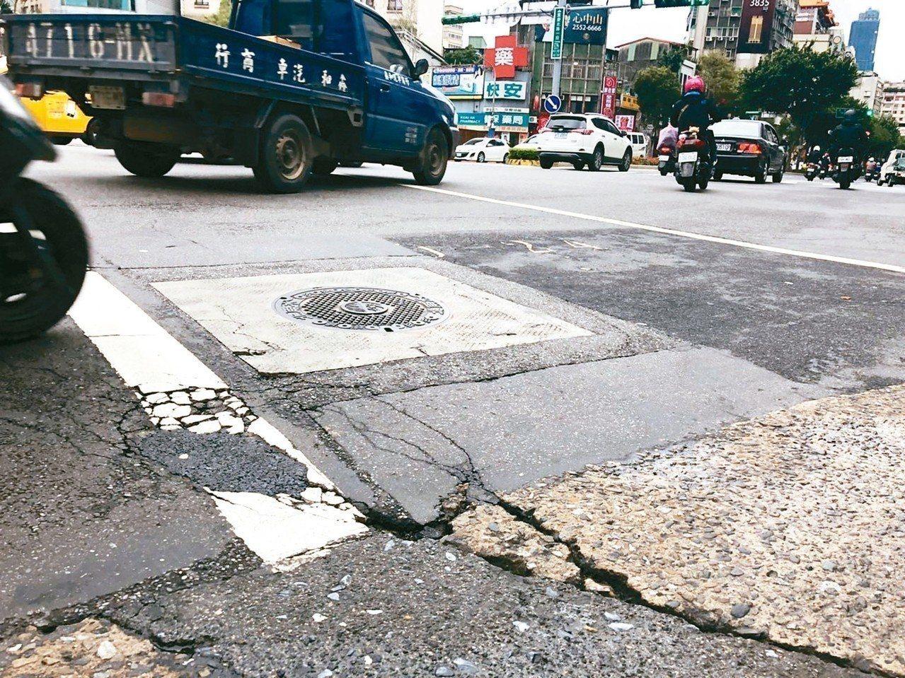 北市道路地下,各式不明管線難探查。圖/聯合報系資料照片