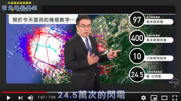 天氣風險管理開發公司總經理彭啟明在「兩分鐘報天氣」影片中表示,從今天凌晨開始新竹...