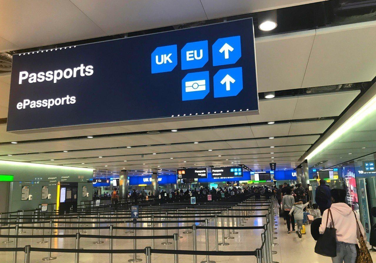 英國原先只開放歐元經濟區的旅客可利用電子護照使用自動查驗通關服務(E-Gate)...