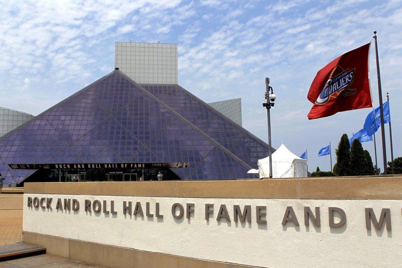 美國俄亥俄州搖滾名人堂博物館建於1995年,由貝聿銘設計。 (新華社)