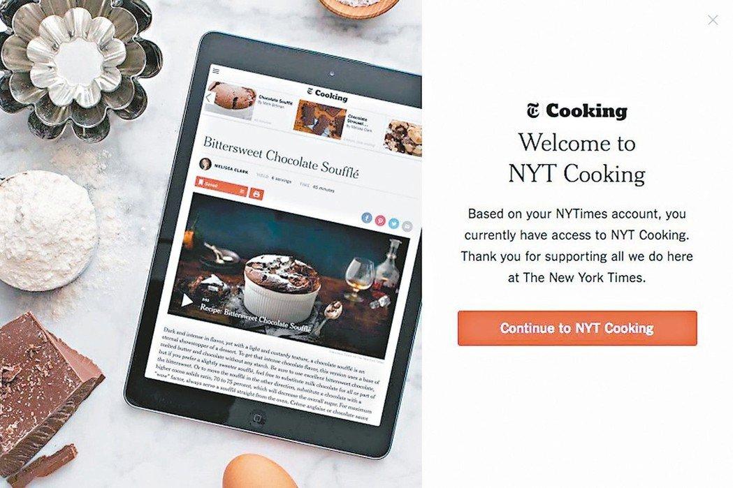 紐約時報一年多前推出收費烹飪App後意外發現:好多訂戶來自美國鄉村。 圖/網路照...