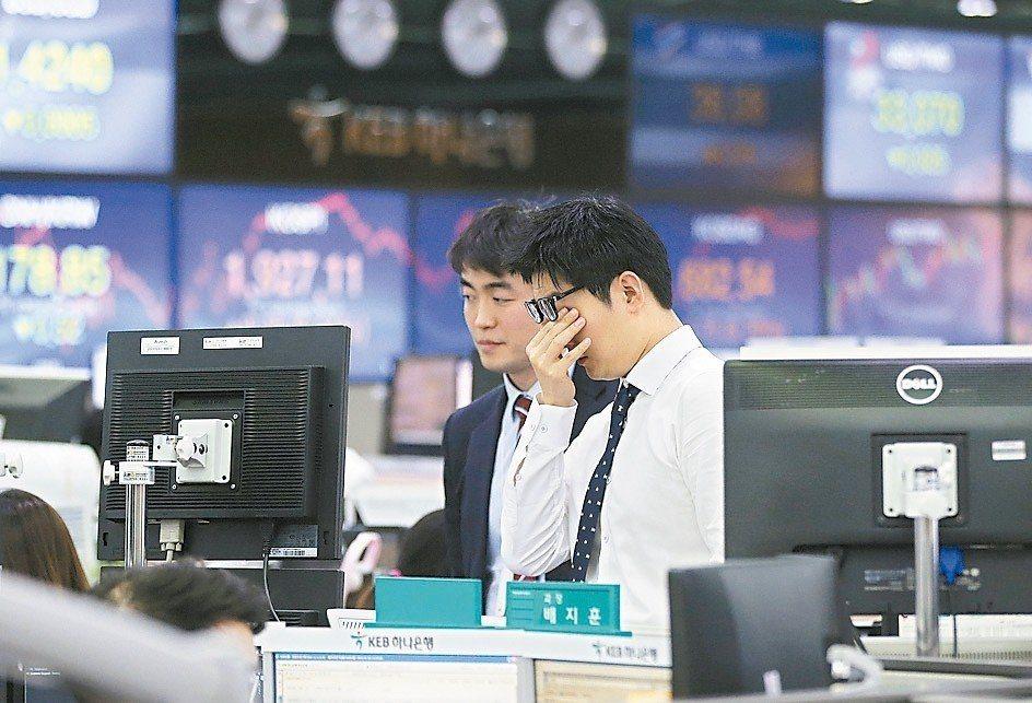 多年來,南韓Kospi指數的價位至少比其他相似市場低五分之一。 美聯社