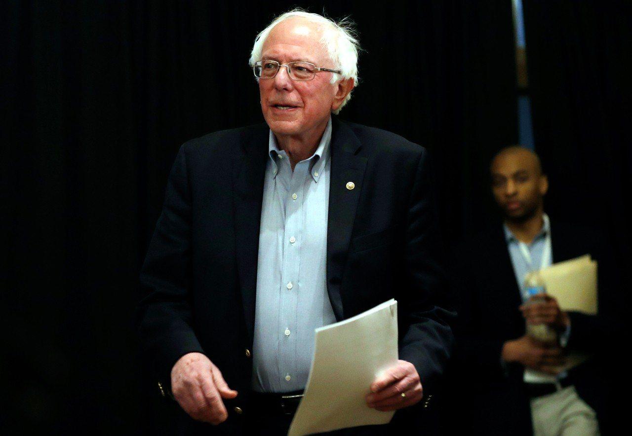 美國聯邦參議員桑德斯(Bernie Sanders)。 美聯社
