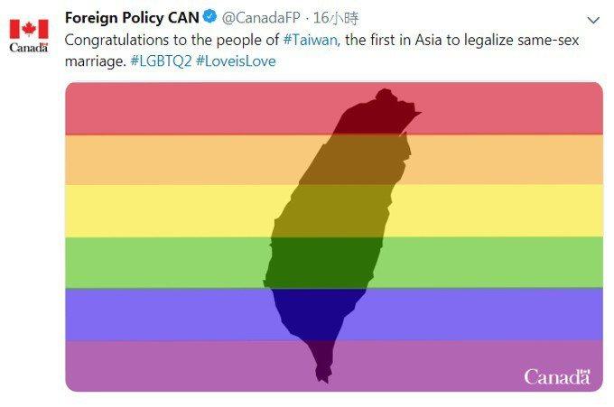 圖擷自加拿大外交部推特。