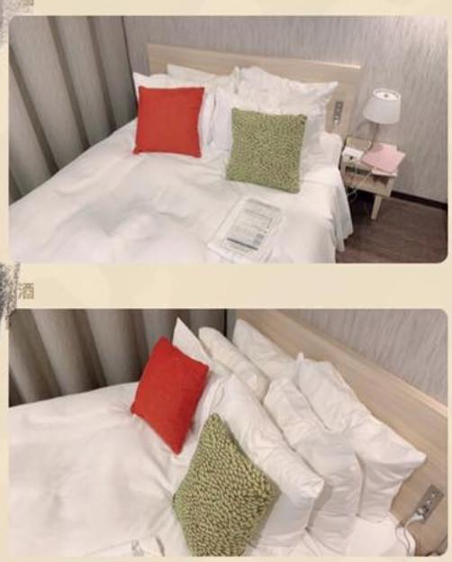 網友向櫃檯要枕頭,對方竟共給了8顆枕頭。圖/截自臉書社團「爆怨公社」