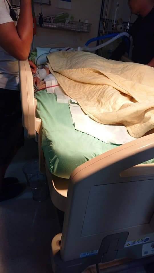 女子昨晚騎機車在后里被不明車輛追撞,傷勢嚴重。圖/取自臉書爆怨公社