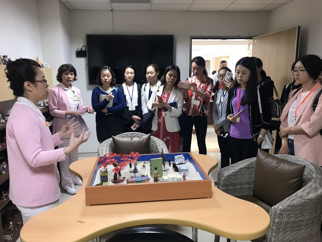 中國大陸四川省樂山市人民醫院昨日赴台前往台北榮民總醫院桃園分院進行參訪,包括台灣...