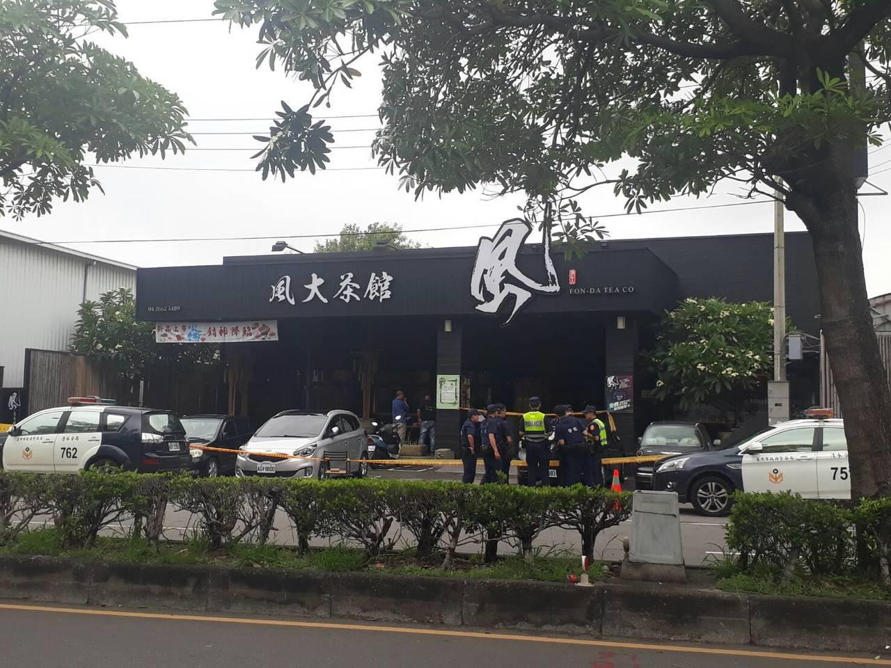 台中市清水區中山路今天發生槍擊案,一男一女中槍。記者游振昇/翻攝
