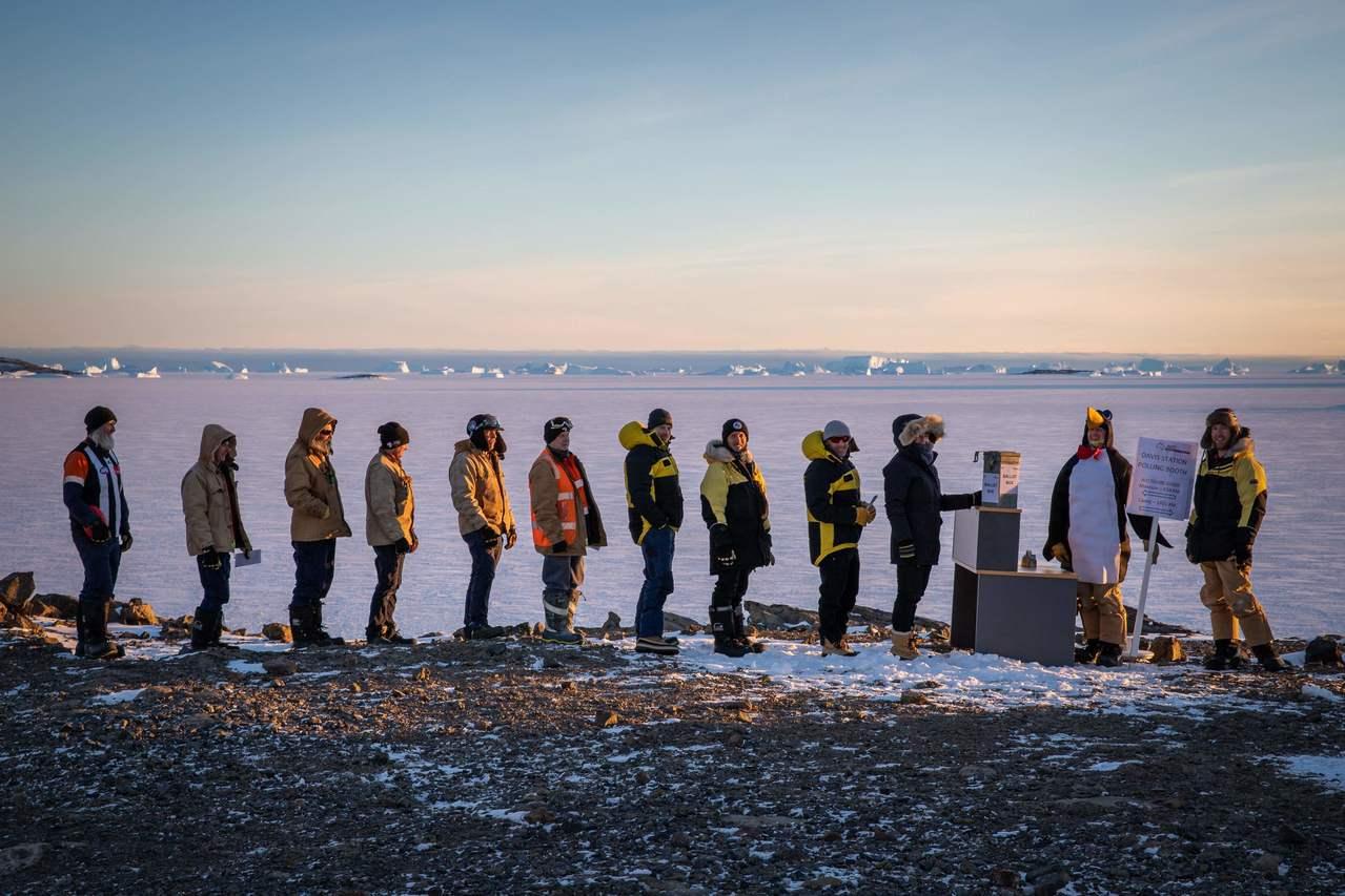 澳洲在南極的科研基地也設有投票站。法新社