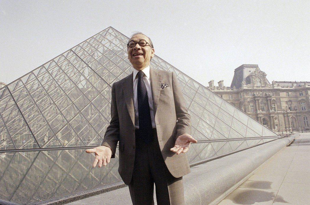 國際知名建築大師貝聿銘16日去世,享壽102歲。圖為貝聿銘1989年3月29日攝...